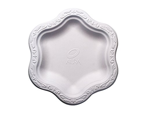 Acanthus-Collection-Seven-7-Inch-in-Bagasse-Natural-Sugarcane-Fibers-Disposable-Floral-Shape-Premium-plates-100-Natural-By-Product-Eco-Friendly-Environmental-Paper-Plate-Alternative-Tree-Free