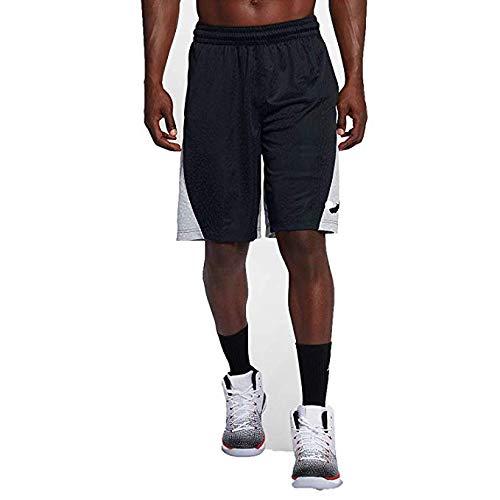 262816f9c7d Nike Mens Jordan Rise Vertical Basketball Shorts (Wolf Grey/Black, Large)