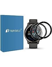 T Tersely [PET + PMMA ] Screen Protector for Garmin Venu 2 45mm[2 Pack], Scratch Resistant Premium High Sensitive Full Coverage Soft Screen Protector Film for Garmin Venu 2 45mm - Black