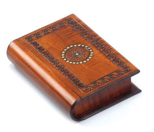 Polish Box (Book Style Wood Puzzle Box Polish Handmade Secret Trick Wooden Box Jewelry Box)