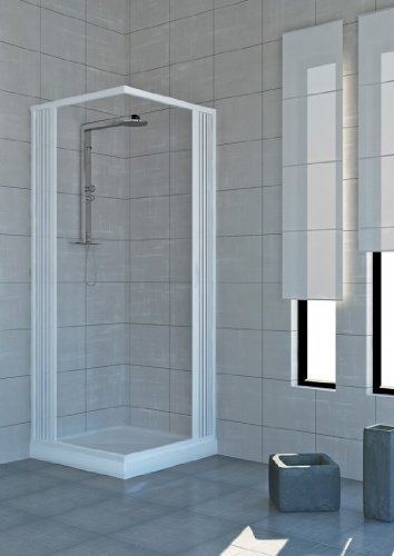 Mampara de ducha plegable en policloruro de vinilo pvc 2 lados 120 x 70 cm muebles de ba o - Mamparas de pvc ...