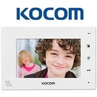 Kocom KCV-D374-W Video Door Intercom 7 Monitor Station Hands-free, 4-wire system, White
