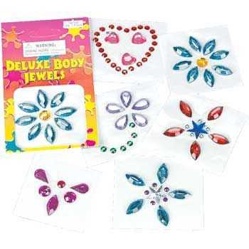 Fun Express Assorted Deluxe Body Jewels (1 (Deluxe Favor)