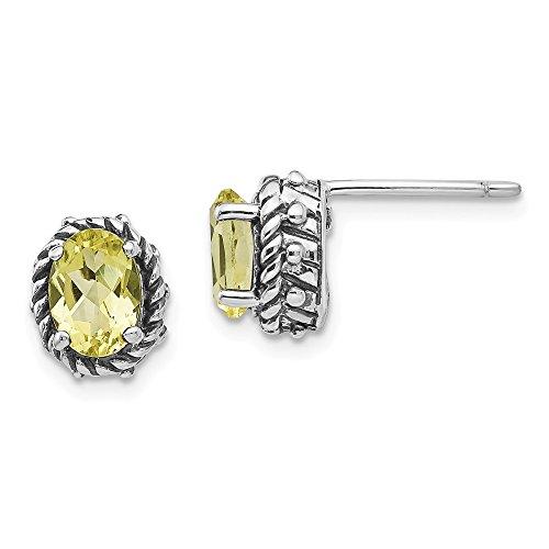 Best Designer Jewelry Sterling Silver Lemon Quartz Earrings