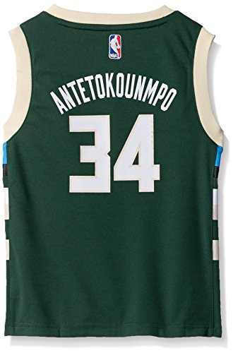 OuterStuff NBA Milwaukee Bucks Children Boys Replica Player Jersey-Road, Medium(5-6), Hunter