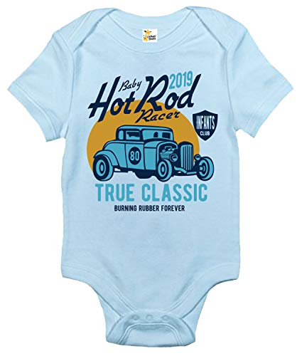 (Baby Bodysuit - Baby Hot Rod Racer Cute Baby Clothes for Infant Boys and Girls (Light Blue, 0-3 Months))