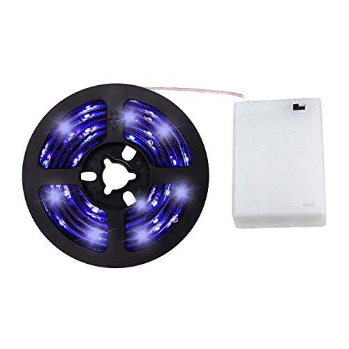 Cuzile écran LED Rétroéclairage LED à piles Bande lumineuse Blanc 50502m 60LED pour maison de cuisine camions assis et chambre à coucher Décoration, bleu 4.80W, 4.50V