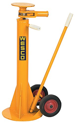 "Wesco Industrial Products 272955 Standard Steel Trailer Stabilizing Jack, 100000 Pound Static Capacity, 13-3/4"" Width x 51"" Height x 13-3/4"" Depth from Wesco"
