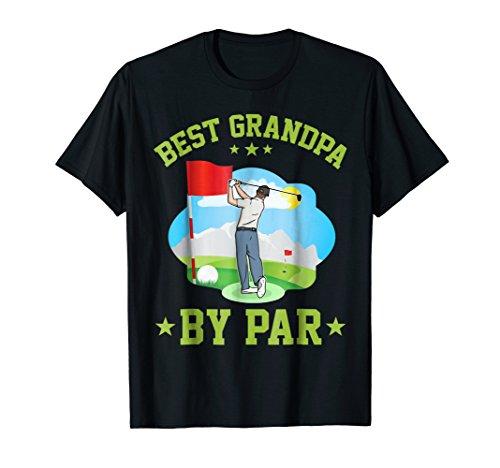 Best Grandpa By Par Golfers T-Shirt Daddy Stepdad Golfing ()