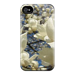 HtFTACj959aYZfq Case Cover White Blossoming Flower Tree Iphone 4/4s Protective Case