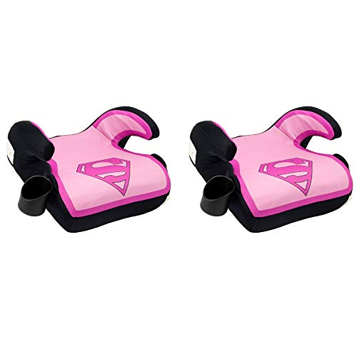 Kids Embrace DC Comics Supergirl Childrens 40-100 Lbs. Backless Booster Car Seat (2 Pack)