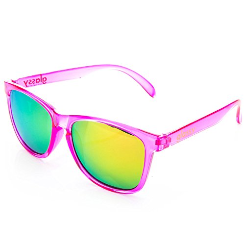 Glassy Sunglasses Glassy Deric Sunglasses - Transparent Pink/Pink Mirror Cancer - Sunglasses Cancer