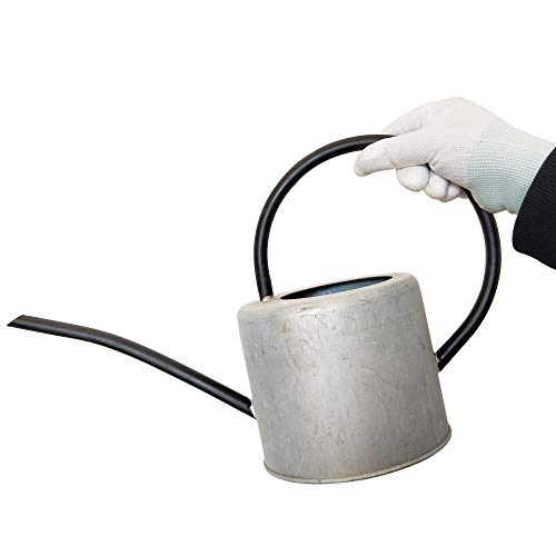 Calunce Rustic Retro Textured Gardening Tools Iron Long spout Watering can 1.7L (Old zinc Color)