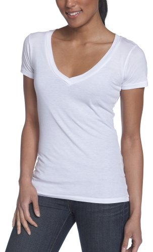 Alternative Women'ss Super Sheer Short Sleeve V-Neck Tee
