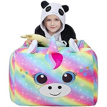 Fabulous Amazon Com Unicorn Stuffed Animal Toy Storage Large Size Creativecarmelina Interior Chair Design Creativecarmelinacom