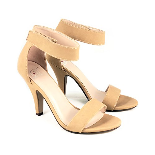 Delicious Penny 7 rosela Heel High Open Strap Sandal MVE Natural Shoes Shimmer Rosela Ankle Toe OWqrOP