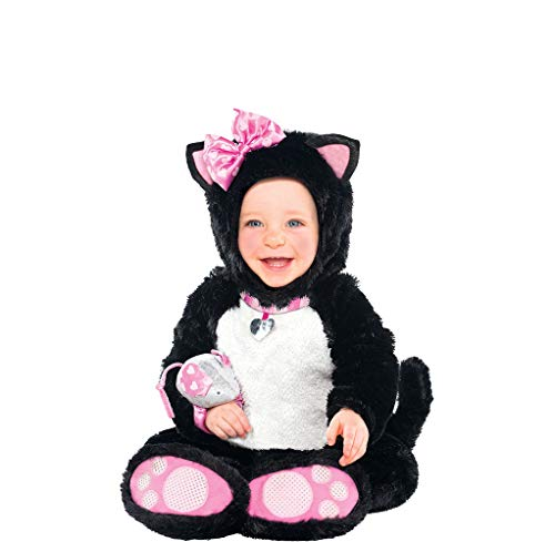 AMSCAN Baby Itty Bitty Kitty Halloween Costume for Infants, 6-12 Months, with Included Accessories