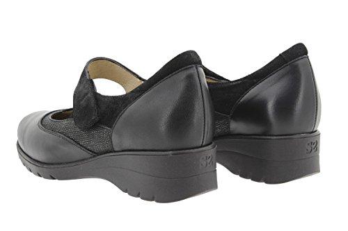Zapato Confort Piesanto De jean Ancho Cómodo 9957 Piel Mujer Mary Calzado Negro Casual aBYHU