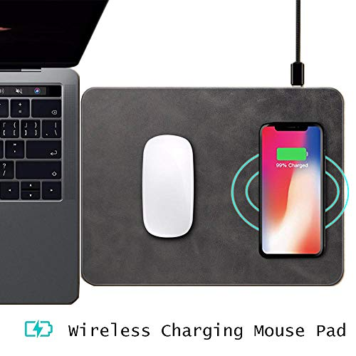 jjssggjjssbb Mouse pad Qi Wireless Charger Mouse Pad for iPhone X 8 8 Plus Samsung Galaxy Note 8 S8 Plus S7 Edge Ultra-Thin Wireless Phone Charging - Mouse Pad X Hyper