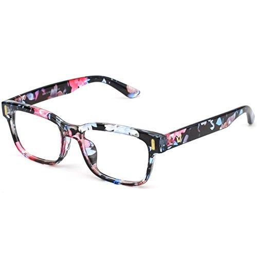 Mujer Hombre y Retro Para Gafas Multicolor CN84 Lente Anteojos Claro CGID gx60awq