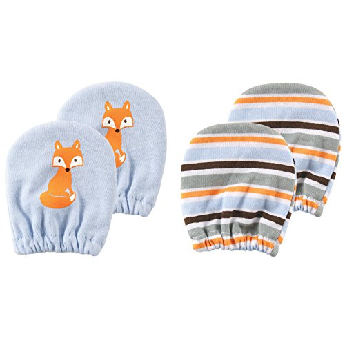 Luvable Friends Basic Scratch Mittens 2-Pack, Fox