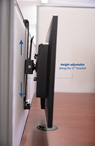VIVO Black Office Cubicle Bracket VESA Monitor Mount Stand Hanger Attachment Adjustable Clamp for 17'' to 32'' Screen (MOUNT-CUB1) by VIVO (Image #5)
