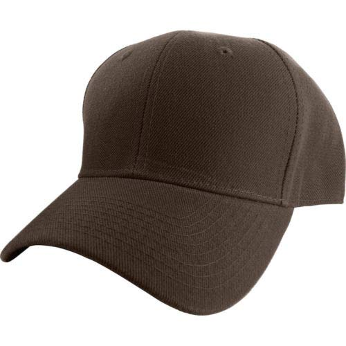 32e17d44fee Plain Fitted Curved Visor Baseball Cap Hat Solid Blank Color Caps Hats
