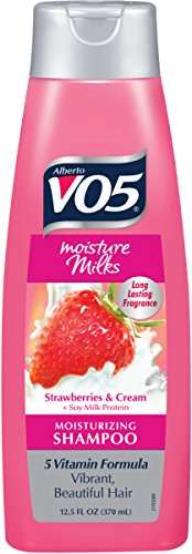- Alberto VO5 Moisture Milks Strawberries and Cream Moisturizing Shampoo, 12.5 Ounce
