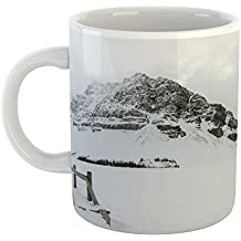 Westlake - Coffee Cup Mug - Lake Bled - Modern Picture Photography Artwork Home Office Birthday Gift - 11oz (69m c5e)