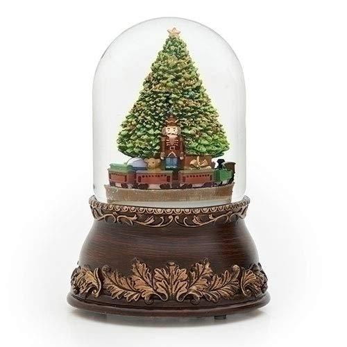 Filigree Nutcracker Revolving Musical Holiday Glitterdome Plays Tune Jingle Bells ()