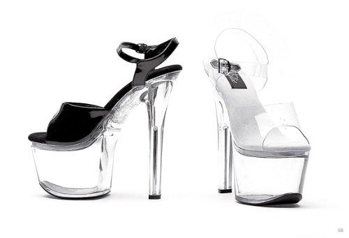 Clear Bottom Heel Clear;8 Womens Inch Sandal Clear Shoes 7 Ellie XwqgRTn