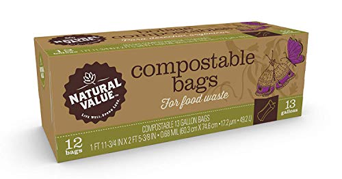 - Natural Value - Compostable Bags for Food Waste - 13 Gallons