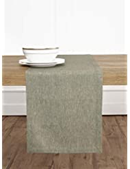Solino Home 100% Pure Linen Table Runner – 14 x 120 Inch, Tesoro Runner, Natural and Handcrafted from European Flax – Flax