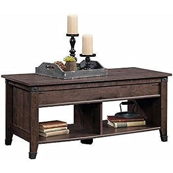 Sauder 420421 Coffee Table Furniture Carson Forge Lift Top Coffee Oak