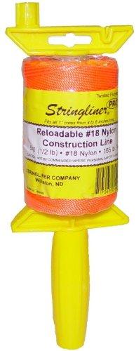 STRINGLINER COMPANY 25406 Twisted 540-Feet Reloadable Line Reel, Fluorescent Orange by Stringliner by Stringliner