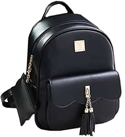 090d684a2b16 Donalworld Girl Floral School Bag Travel Cute PU Leather Mini Backpack M  Pattern17