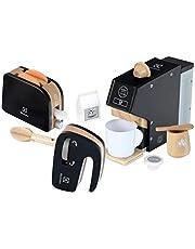Theo Klein 7404 Electrolux keukenset, hout I Hoogwaardige kinderkeukenset die bestaat uit een koffiemachine, mixer en broodrooster I Toebehoren voor speelkeuken I Speelgoed voor kinderen vanaf 3 jaar