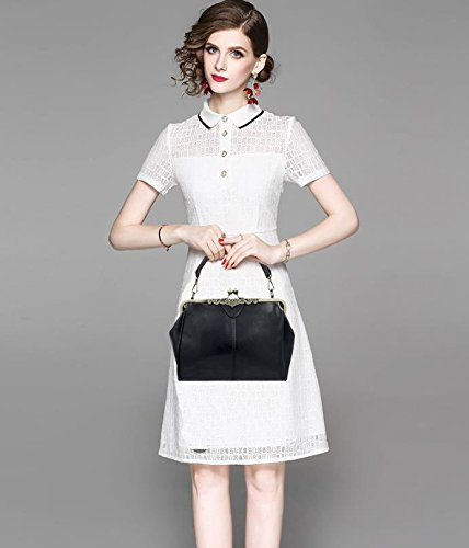 Handbag Handnbag Satchel Lock Totes Purse Minimalist Imitation Retro Bag Leather Abuyall Women Vintage Kiss Bag P Shoulder UwZ7UAEq