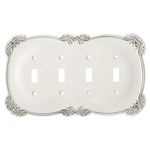 quad white switch plate - 9