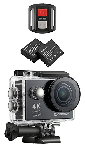 Mospro FT7500 Action Camera, 4K Ultra Hd Wi-Fi Waterproof 170° Wide Angle 12 MP Dv Camcorder Sports Camera with 2.4G Remote Control, 2 Piece