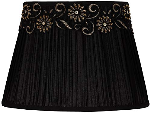 Black Shirring Pleat Oval Shade 8/11x11/16x11.5 (Spider) - Springcrest