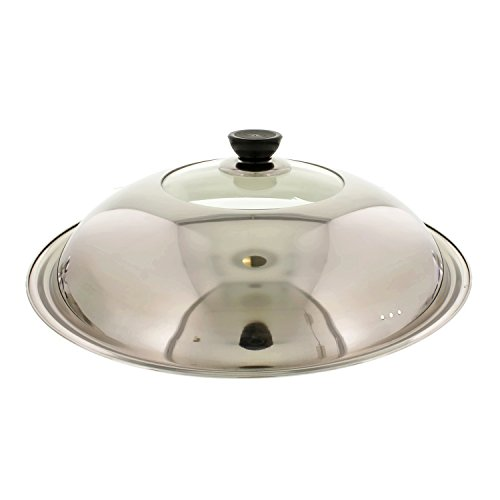 eel and Heat Resistant Glass Stir Fry Lid Cover for 17