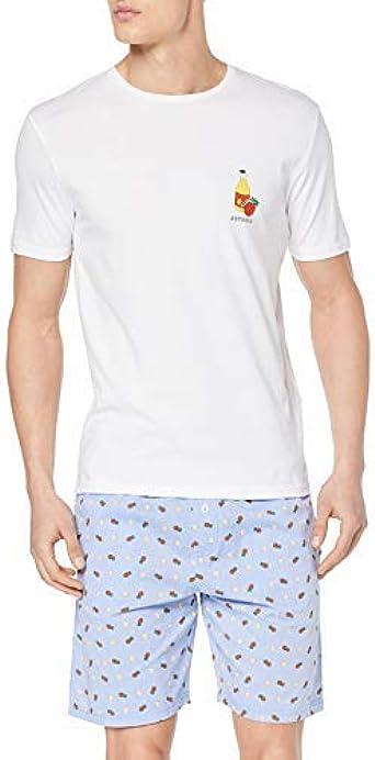 Springfield Pij Cortotela Botella Conjuntos de Pijama para Hombre