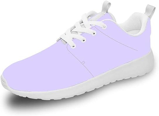 Mesllings Zapatillas de Running Unisex de Lavanda, Ligeras, para Deportes al Aire Libre: Amazon.es: Zapatos y complementos