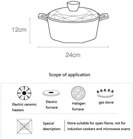 Aluminium diamant Pot de soupe Pot Boiled multifonctions Bateau à vapeur