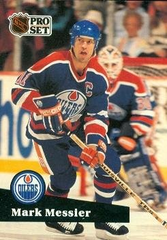 Mark Messier Hockey Card (Edmonton Oilers) 1991 Pro Set #74