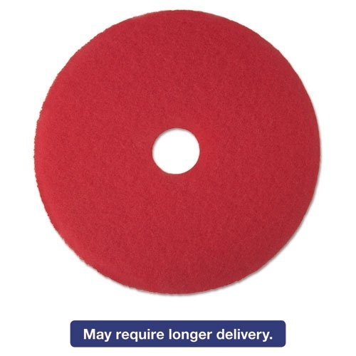 MCO08393 - Low-speed High Productivity Floor Pads 5100, 18-inch, Red - Red Buffer Low Speed Floor
