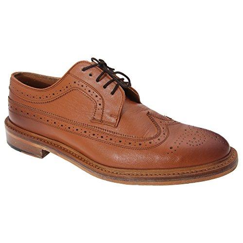 American Brogue Tostado hombre Marrón Kensington Modelo Gibson piel Zapatos caballero Todo Classics xSwFX