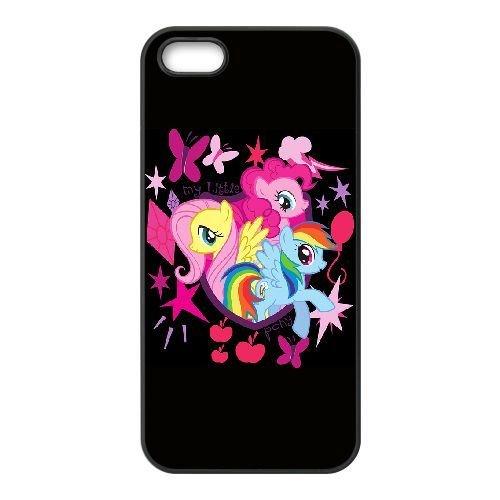 Fluttershy Pie Pinkie et Rainbow DASH pour coque iPhone 5 5s cellulaire cas de téléphone couvercle de coque noire