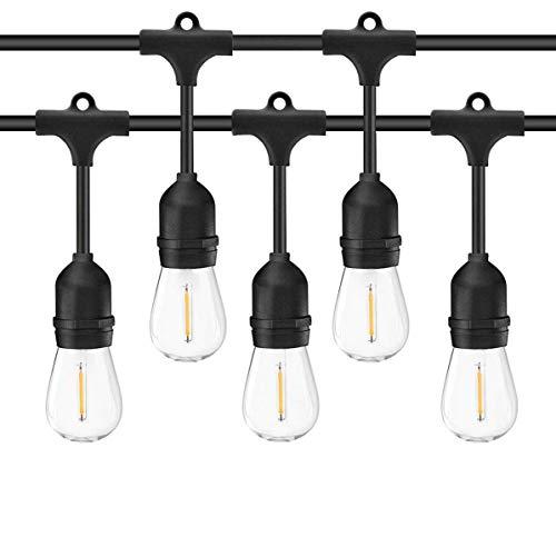 Salcar Led-lichtsnoer voor buiten, 15 m, 15 x E27-leds, IP65, waterdicht, decoratieve lamp voor huisdecoratie, feest…